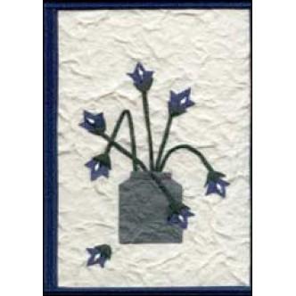 Blue Flowers in Pot