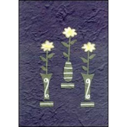 Flowers in Vase on Blue