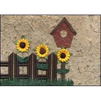 Sunflowers and Birdhouse