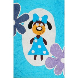 Dog in a Blue Dress