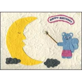 Moon and Fairy 'Happy Birthday'