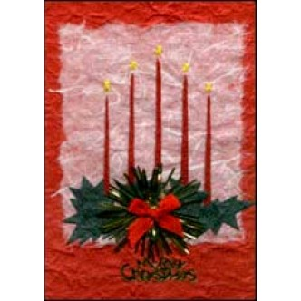 Red Candles 'Merry Christmas'