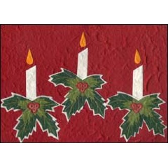 Three Candles Red