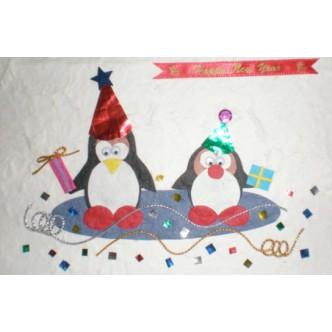 'Happy New Year' Penguins