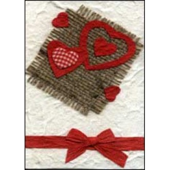 Cream Red Hearts with Bow