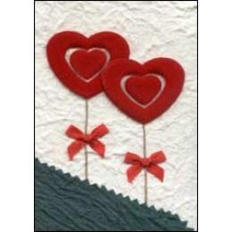 Cream Red Hearts