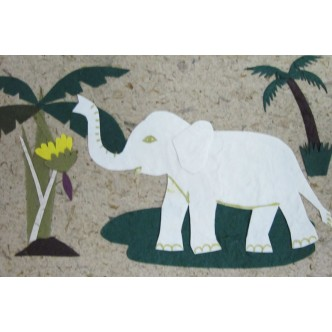 Elephant With Palm Trees
