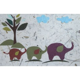 Three Elephants (Brown)