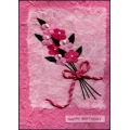 Pink Flowers 'Happy Birthday'