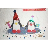 'Happy New Year' Penguins