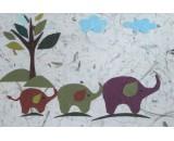 Three Elephants (Brown)